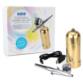 PME PORTABLE AIRBRUSH KIT GOLD