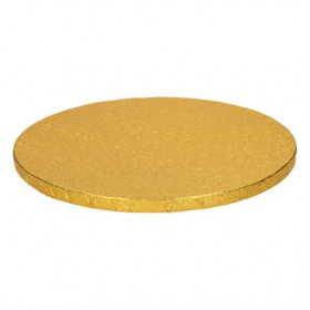 FUNCAKES CAKE DRUM ROND Ø25CM - GOLD
