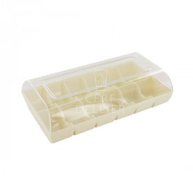 Boîte pour 12 macarons blanche Gatodéco
