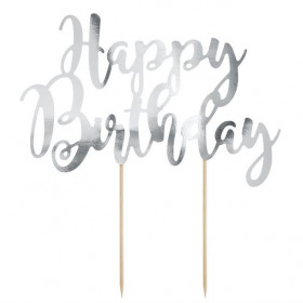 PARTYDECO CAKE TOPPER HAPPY BIRTHDAY - OR