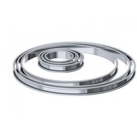 Cercle à Tarte perforé Ø 10 cm en Inox par De Buyer