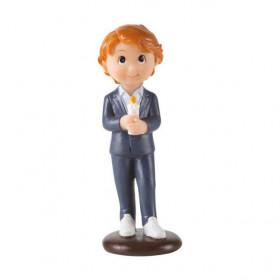 Décor Figurine Communion - Fille avec Bougie 10cm