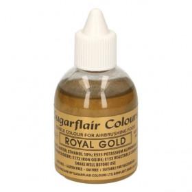 SUGARFLAIR AIRBRUSH COLOURING -ROYAL GOLD- 60ML