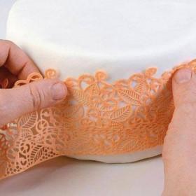 Silikomart Wonder Cakes Silicone Lace Mat -Slim Baroc-