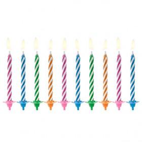 PartyDeco Bougies d'anniversaire Magic Mix pcs/10