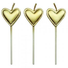 PME CANDLES GOLD HEARTS PCS/8