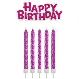PME CANDLES & HAPPY BIRTHDAY PINK PK/17