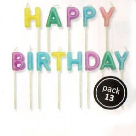 PME Candles Happy Birthday Pastel Série/13