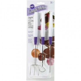 WILTON CANDY MELT SET DE 3 OUTILS DE TREMPAGE SET/3