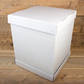 FunCakes Boîte à gâteaux –Blanc 37x37x45cm- pcs/1