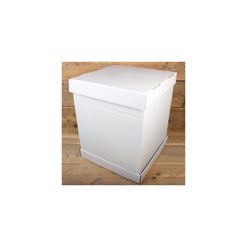 FunCakes Boîte à gâteaux – Blanc  52x52x70cm- pcs/1