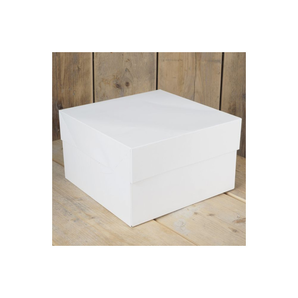 FunCakes Boîte à Gâteau - Blanc -20 x 20x 15 cm