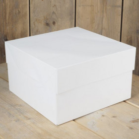 FunCakes Boîte à gâteaux – Blanc  - 35 x 35x 15 cm