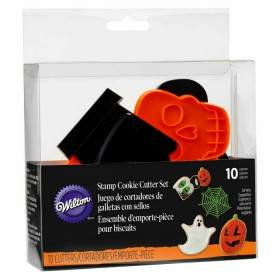 COOKIE CUTTER SET SPOOKY STAMP 10PC