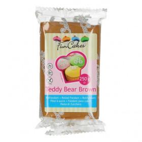 FunCakes Fondant - Teddy Bear Brown - 250g