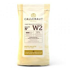 CALLEBAUT CHOCOLATE CALLETS -WHITE- 1 KG