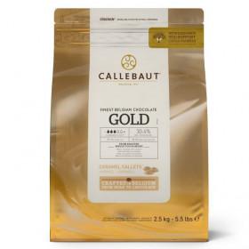 CALLEBAUT GALETS DE CHOCOLAT - OR - 2,5 KG