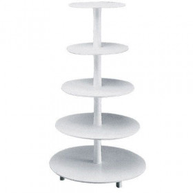 TIERED CAKE STAND PLASTIC, 5 TIERS