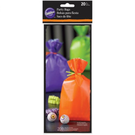 WILTON TREAT BAGS ASSORTED SOLID COLOR PK/20