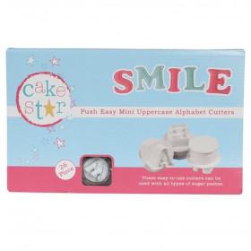 CAKE STAR PUSH EASY MINI CUTTERS UPPERCASE ALPHABET SET/26